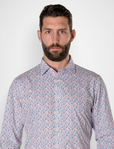 James Harper Michael Leunig 'Odd Birds' Long Sleeve Print Shirt