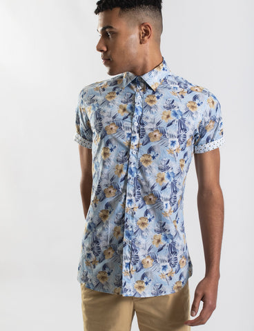 James Harper JHS336 TROPICAL FLORAL PRINT S/S SHIRT