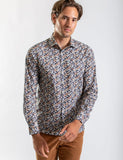 James Harper JHS370 FALLING LEAVES PRINT SHIRT