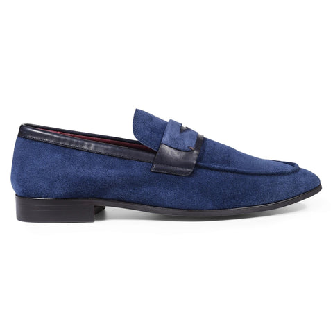 Julius Marlow Lark Slip On - Navy Suede
