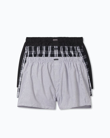 CK NB4006 COTTON CLASSICS 3 PACK WOVEN BOXERS
