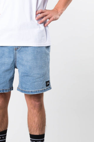 RUSTY JOGGY DENIM ELASTIC SHORT