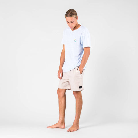 Rusty POOL LINEN ELASTIC SHORT