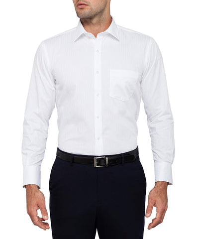 VAN HEUSEN E140 Euro Tailored Fit Herringbone Self Stripe Shirt