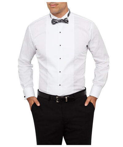 VAN HEUSEN E158 EURO TAILORED FIT TUXEDO SHIRT WITH WING COLLAR