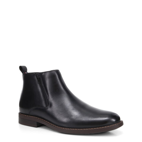 Hush Puppies Hedge Leather Ankle Boots - Black