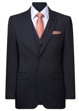 FERRARI / SPURLING BARNEY DARK GREY SELF STRIPE LOUNGE SUIT – HIRE