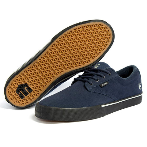 ETNIES JAMESON VULC SHOES - NATHAN WILLIAMS DARK GREY/BLACK