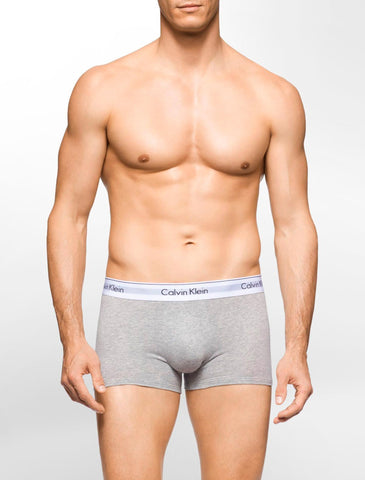 CK 1086 MODERN COTTON STRETCH 2 PACK TRUNK - GREY/BLACK