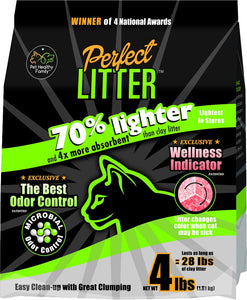 (a) The Perfect Litter -  ONLY CAT LITTER that Allows You To Visually Monitor The Health Of Your Cat 24/7