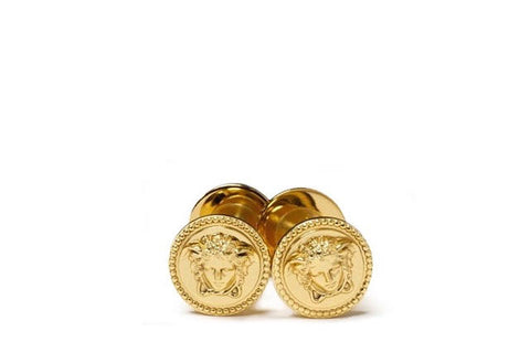 Versace Home Classici Paired All Purpose Cabinet Knobs   24k Gold