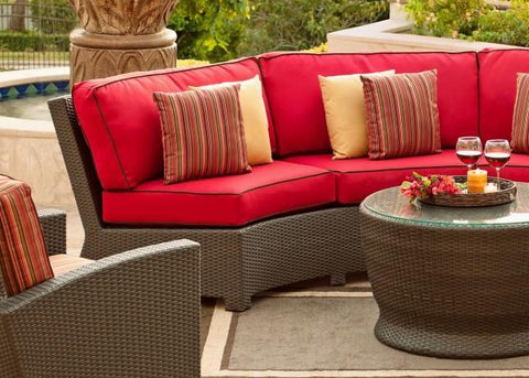 Cabo Patio Furniture.Cabo Outdoor Curved Wicker Sofa Outdoor Furniture Macksoods