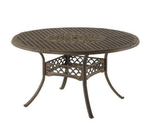 "Bordeaux OUTDOOR 48"" CAST ALUMINUM DINING TABLE"