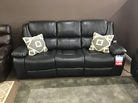 Oxford Power Leather Sofa -FLOOR MODEL CLEARANCE