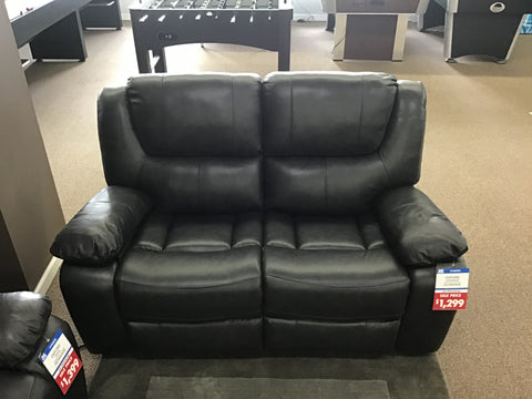 Oxford Power Leather Loveseat - FLOOR MODEL CLEARANCE FLUSHING