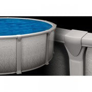 "Elegance Grey 27' x 54"" Round Swimming Pool"