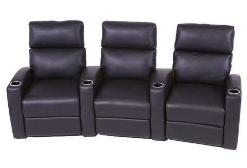Milan 3 Seat Home Theater Group