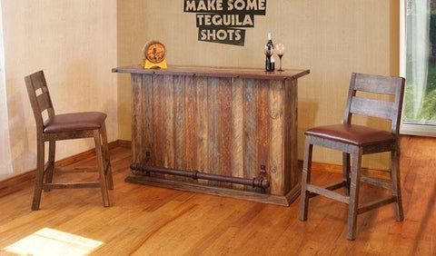 Antique Multicolor Home Bar