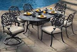 Vienna Cast Aluminum outdoor dinning set