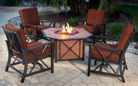 haywood outdoor fire pit group outdoor furniture firepits rh macksoods com Long Gas Fire Pit Table Propane Gas Fire Pit Table