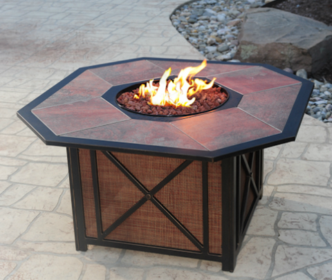 Haywood Outdoor Fire Pit Group Outdoor Furniture Firepits - Outdoor furniture with gas fire pit table