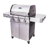 Cast Stainless 3-Burner Grill