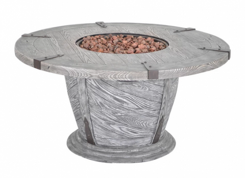 Old World Outdoor Round Gas Fire Pit