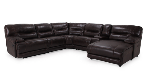 Infinity Leather Sectional With Chaise