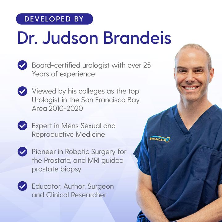 Urologist & Sexual Medicine Expert Dr. Brandeis formulates each AFFIRM Science supplement.
