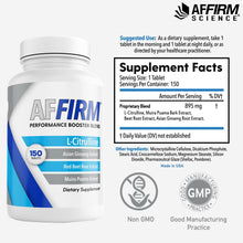 Load image into Gallery viewer, AFFIRM L-Citrulline Dietary Supplement I 150 Tablets