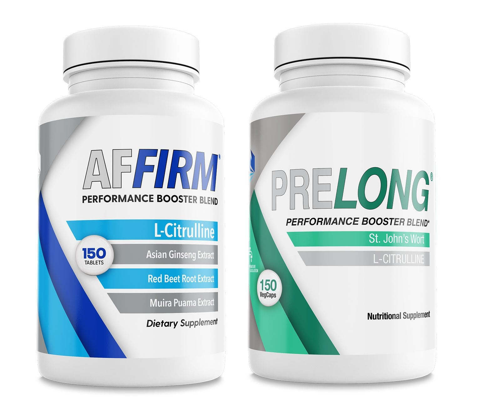 AFFIRM L-Citrulline 750mg (150 Tablets) & PRELONG Proprietary St. Johns Wort (120 Capsules) Nutritional Supplement Pack I Gluten Free & Non-GMO