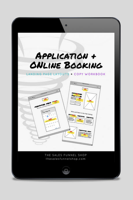 Application Funnel: Landing Page Layouts + Copywriting Workbook (PDF Download)