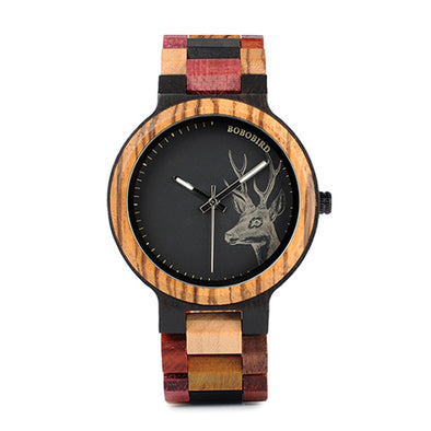 Colorful Wood Quartz Watch Men