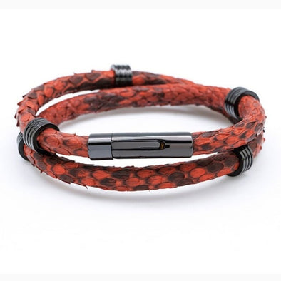 Bangle Python Leather Bracelet