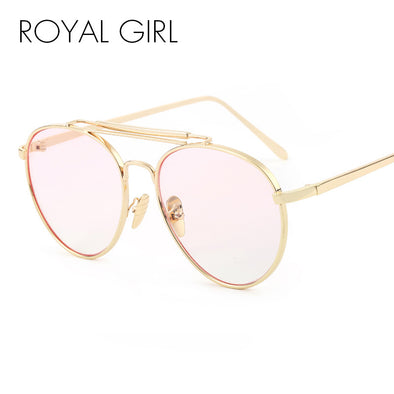 ROYAL GIRL Oversize Metal Round Eyeglasses Retro Optical Frames ss407