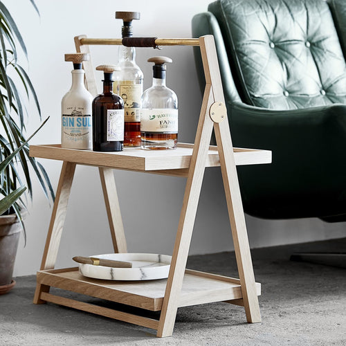 Klappbarer Beistell-Tisch Tray-Table aus Eiche von The Oak Men