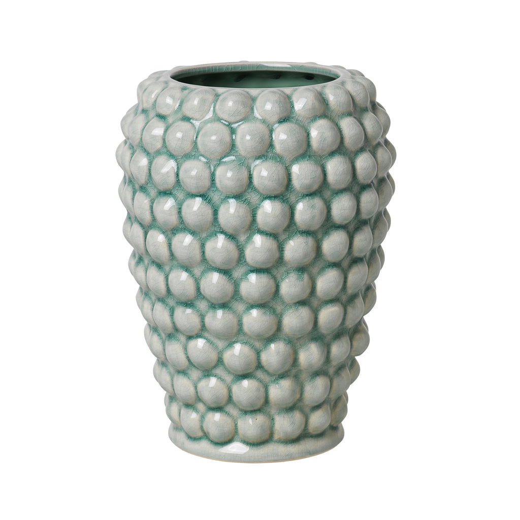 Vase Dotty von Broste Copenhagen in chinois green grün