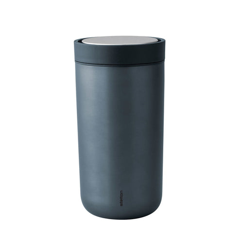 Thermobecher To Go Click von Stelton metallic blue