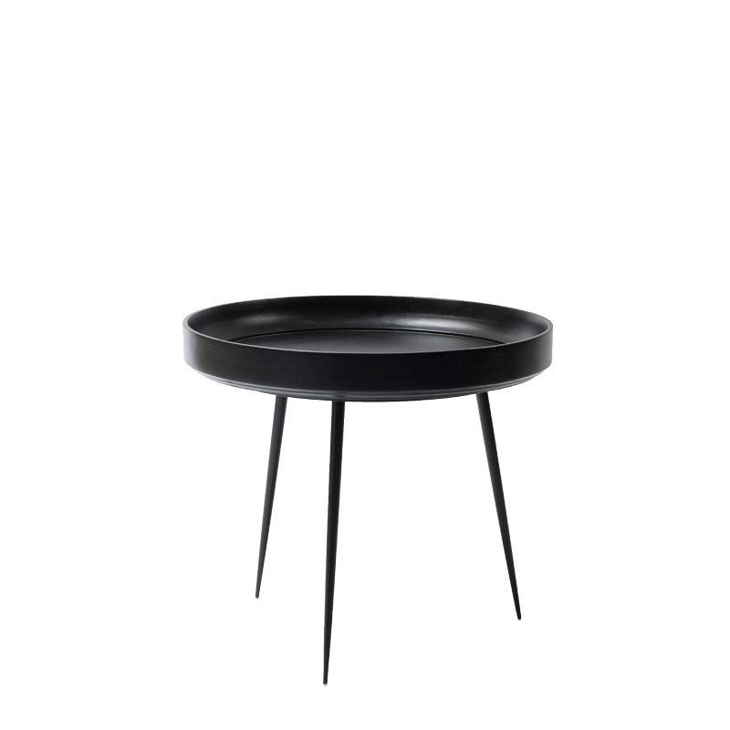 Mater Bowl Table aus Mangoholz in Schwarz L