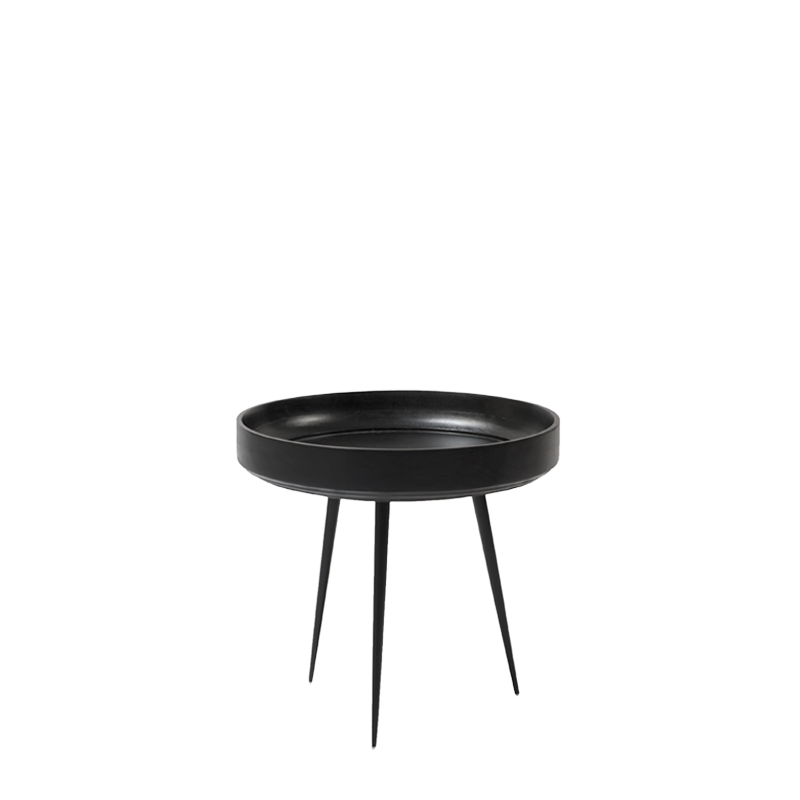 Mater Bowl Table aus Mangoholz in Schwarz S