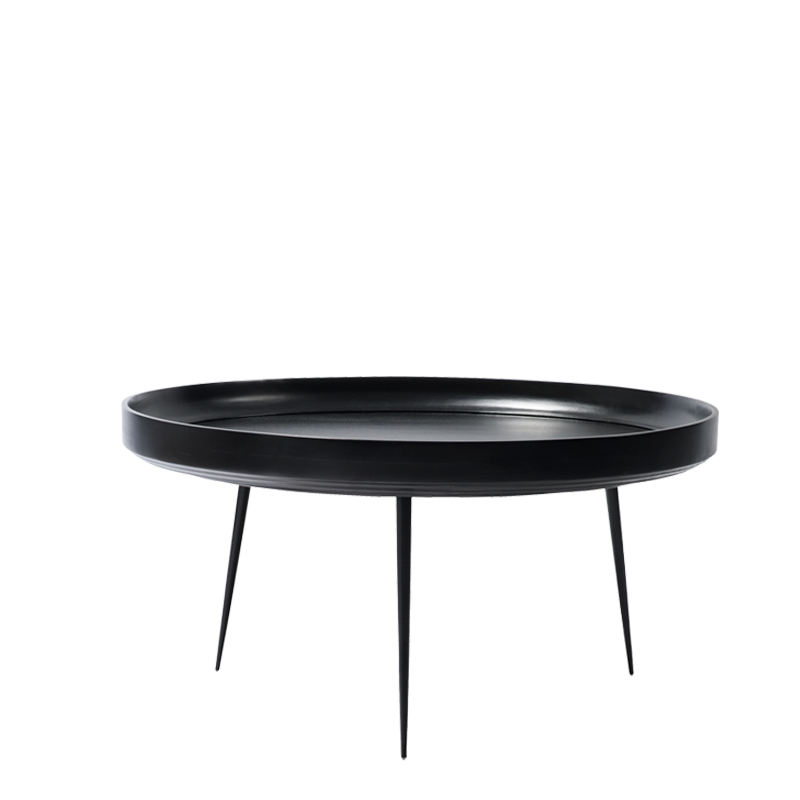 Mater Bowl Table aus Mangoholz in Schwarz XL