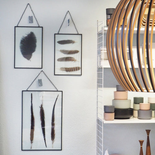 Wandbilder Glas Feather Broste Copenhagen Mood roomone.ch