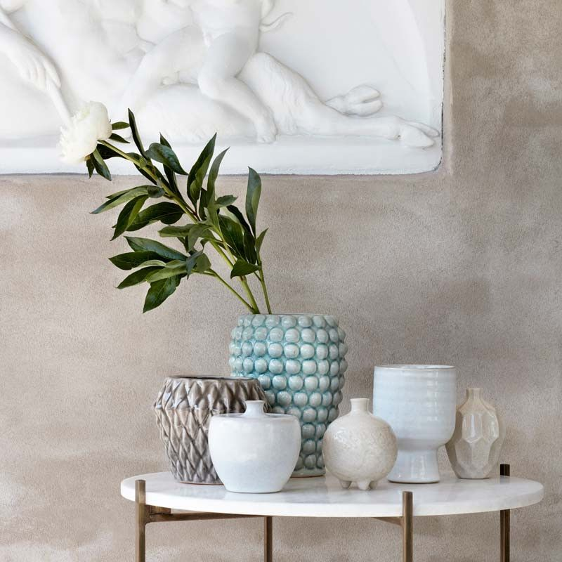 Vase Dotty von Broste Copenhagen in chinois green grün mood
