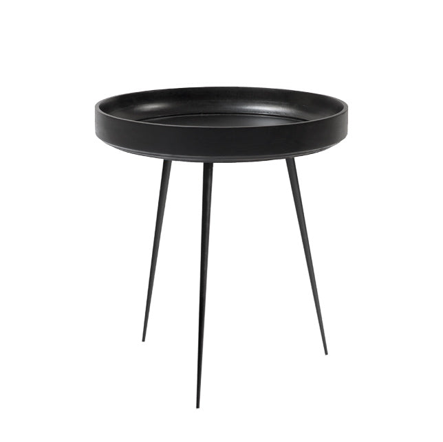 Mater Bowl Table aus Mangoholz in Schwarz M