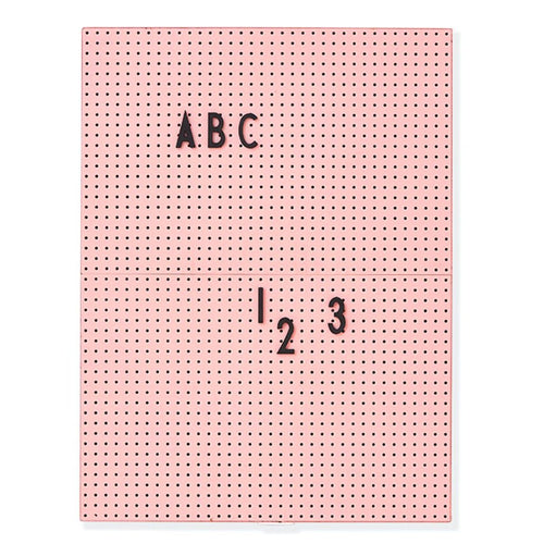 Message Board A4 von Design Letters in Pink