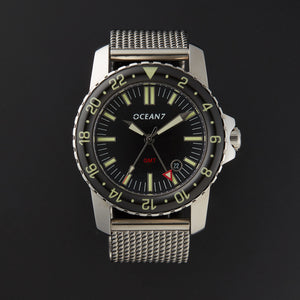 LM-5 GMT Dress Diver with Domed Sapphire Bezel
