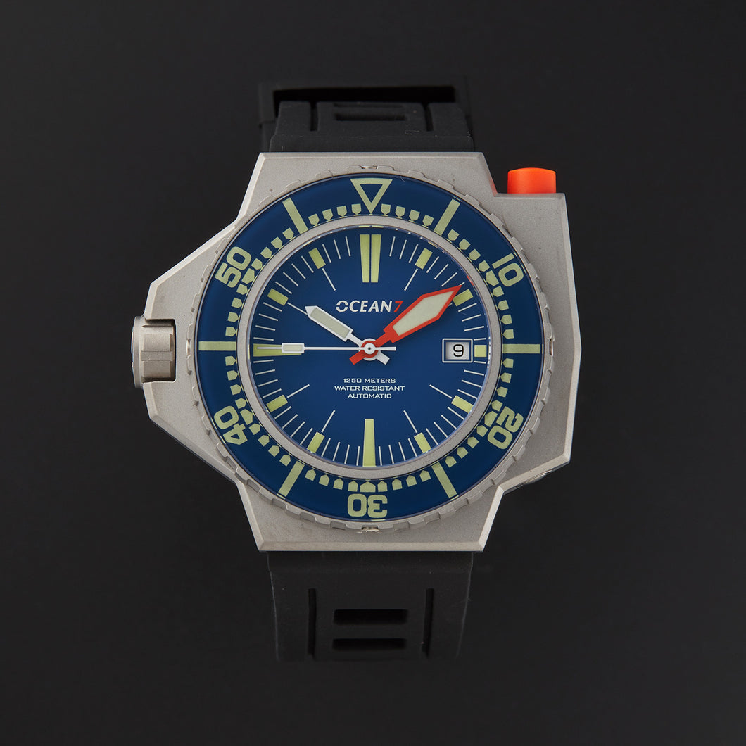 LM-7 Pro Hardened Titanium Bezel ONLY with Blue Sapphire Insert