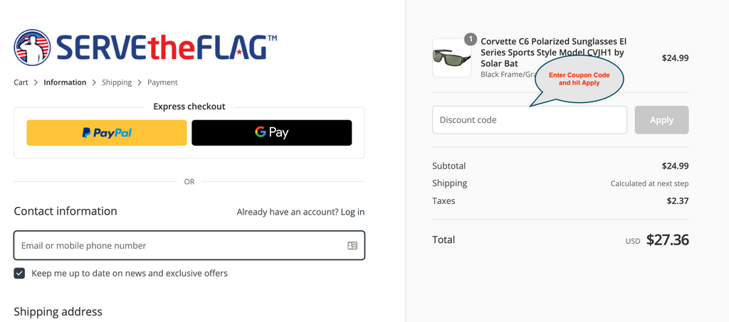 ServeTheFlag.com Coupon Code