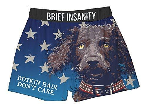 Brief Insanity Boykin Hair American Fido Dog Silky Boxer Shorts Gifts for Men Women