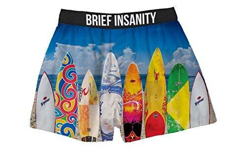 Brief Insanity Surfboards Surfing Silky Funny Boxer Shorts Gifts for Men Women Surfers